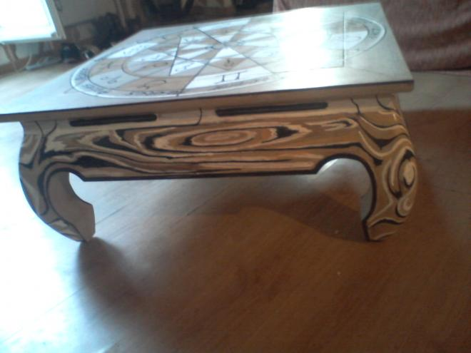 Table basse africaine customis apr s - Customiser une table basse ...